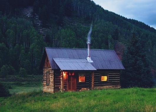 Google Reader (41) #cabin #woods #house