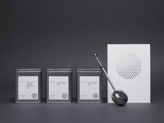 Moving Brands – All About Tea | September Industry #cut #white #silver #laser #black