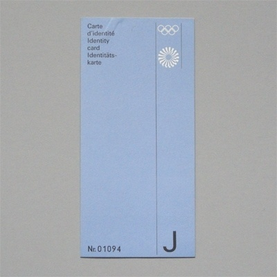 Otl Aicher 1972 Munich Olympics - Identification #otl #print #design #graphic #1972 #aicher #olympics #typography