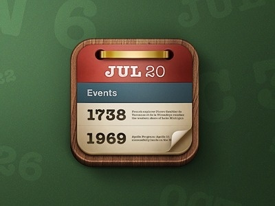 Onthisday #icon #design #iphone #app #mobile #device