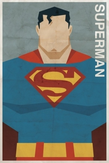 Vintage-Style DC Character Posters #superhero #comic #illustration #drawing #superman