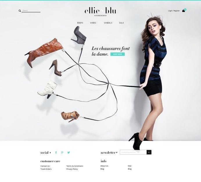 Ellie Blu Homepage #ux #commerce #design #ui #e #web #fashion