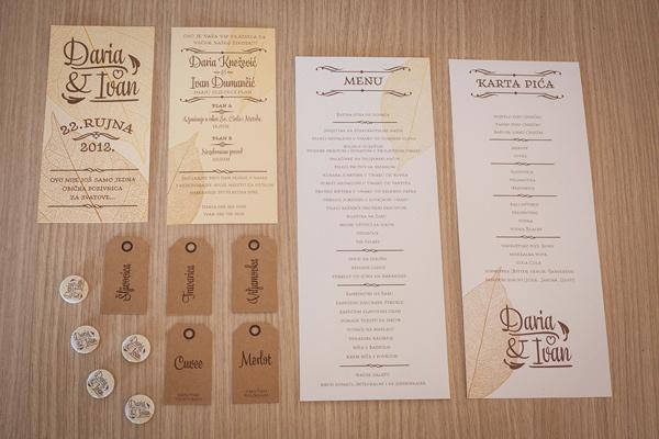 Daria & Ivan Wedding identity and invitations #leo #branding #ivandaria #design #graphic #vinkovic #identity #wedding