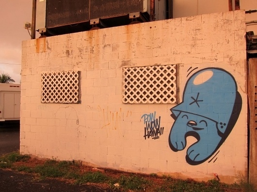 Pow Wow 2012 Hawaii set up AM 23 | Arrested Motion #grafitti #fortress #wow #exhibition #flying #hawaii #pow