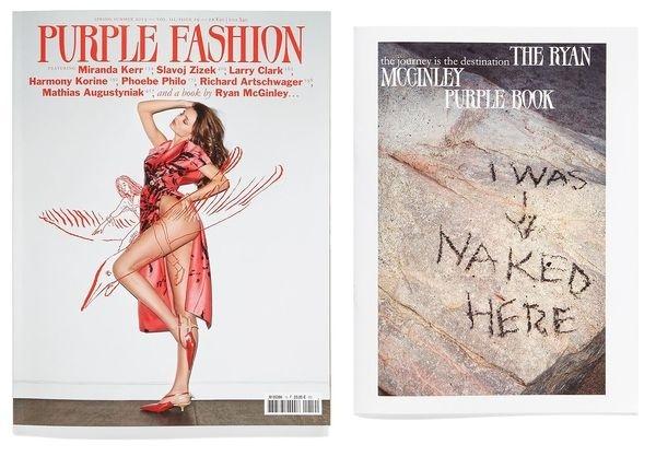 Purple magazine #cover #illustration #purple #editorial #magazine