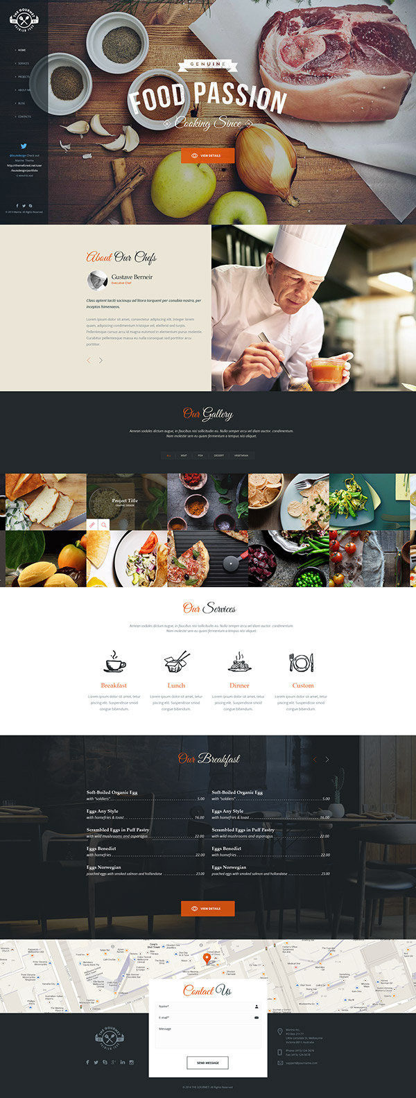 The Gourmet – Food WP Skin & Theme #inspiration #design #web #resturant