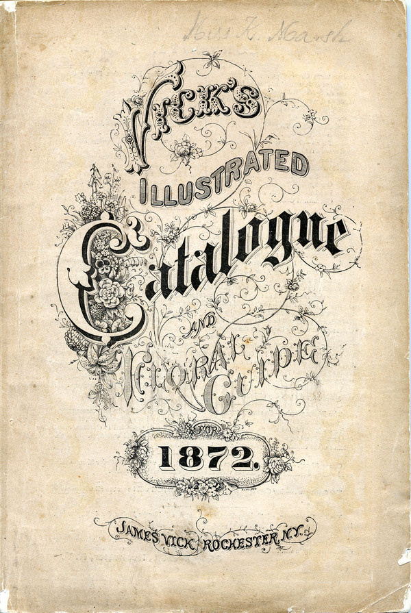 Seed Catalogs from Smithsonian Institution Libraries #typography #calligraphy