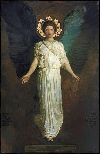 Abott Thayer, Winged Figure #painting #thayer