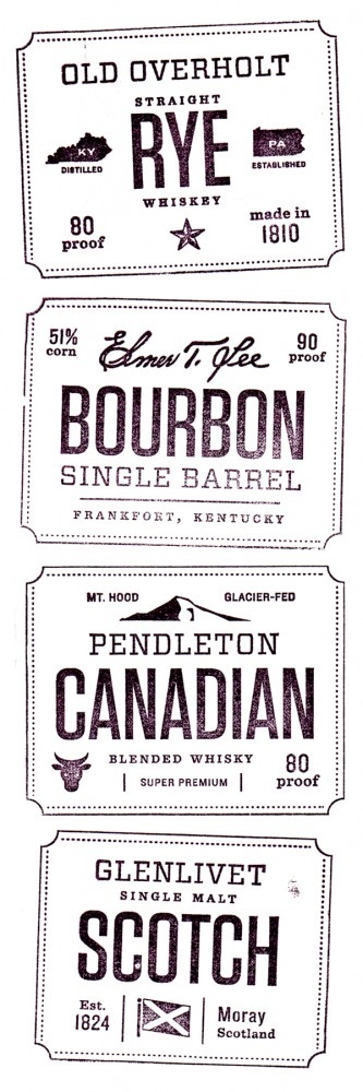 Whiskey Friends ‹ Jen Wick Studio #typography #brand #stamp #whiskey