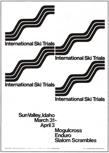 grain edit · Keating & Keating #international #white #ski #black #vintage #poster #trials #keatingkeating