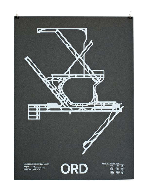 ord #print #runway #paper #poster #airport