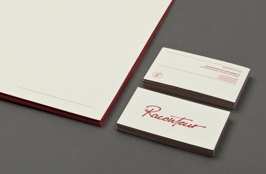 Raconteur | Christian Bielke #business #branding #print #identity #stationery #cards