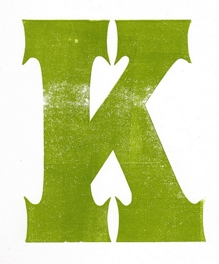 Special K | Flickr - Photo Sharing! #letter #print #texture