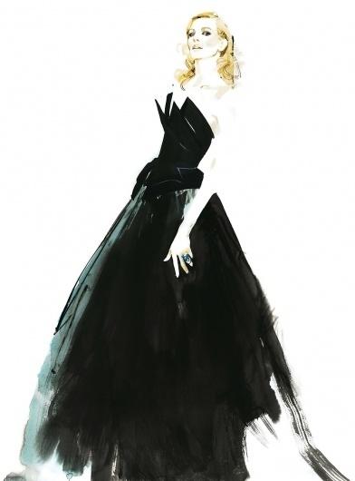 MademoiselleB_Cate-Blanchett.jpeg (889×1200) #fashion #illustration #david #downton