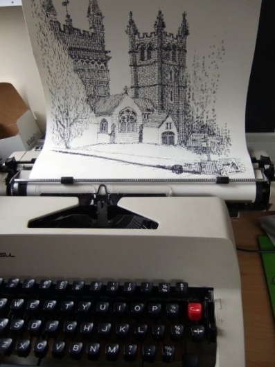 Typewriter art from Keira Rathbone #print #typography