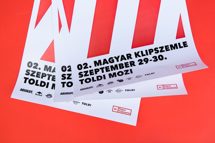 Magyar Klipszemle Branding - Mindsparkle Mag Kristof Kiss-Benedek designed the branding for the Second Hungarian Music Video Festival in Hungary. This project involved the creation of posters, t-shirts, tote bags, together with all the other signage needed for the event. #logo #packaging #identity #branding #design #color #photography #graphic #design #gallery #blog #project #mindsparkle #mag #beautiful #portfolio #designer