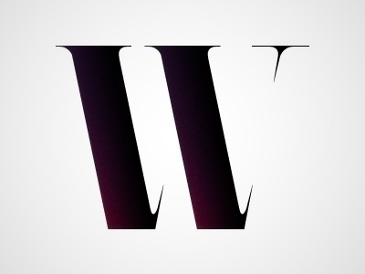 Dribbble - W by Chris Rushing #lettering #letters #negative #space #letterforms #type #typography