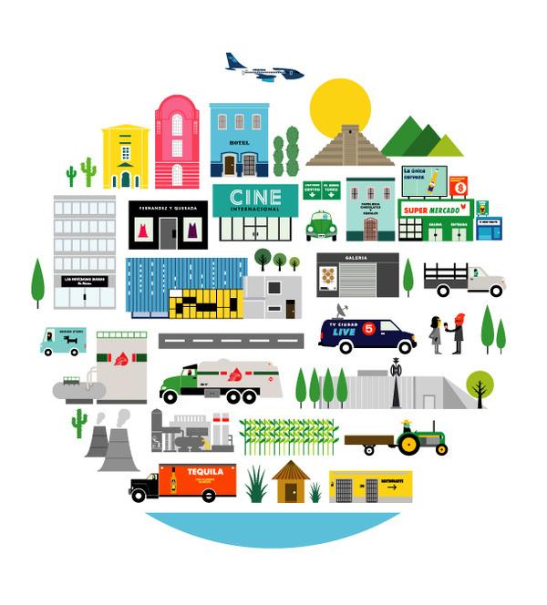 Illustration by Robert Samuel hanson #vector illustration city
