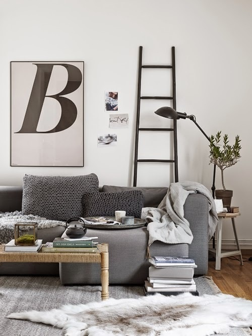 Find home: Insert style: Living Part 2 | Natural #interior #wool #rug #grey