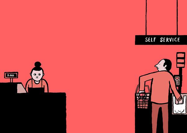 'Allo?' An interactive exhibit by Jean Jullien #cartoon #illustration #funny