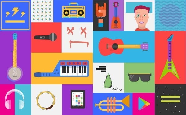 Google Play Music on Behance #fun #vector #color #awesome