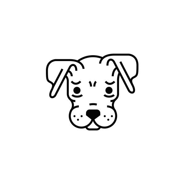 Sad Dog Icon #vector #icon #mexico #monterrey #sad #dog