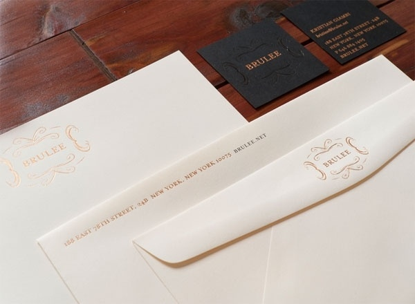FPO: Brulee Stationery Package #white #branding #black #system #chic #stationery #foil