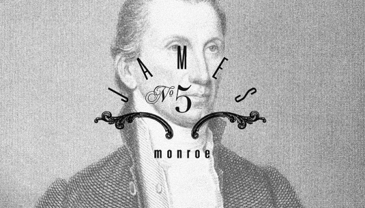 http://BrandingTheUSPresidents.tumblr.com/ #monroe #design #graphic #american #president #james #america #typography