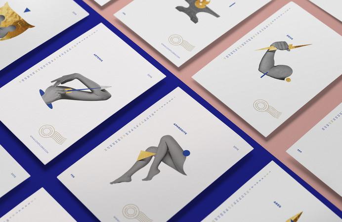 Love Floris Calendar / Kommigraphics #greek #gods #print #calendar #floris #greece #postcards #love #typography