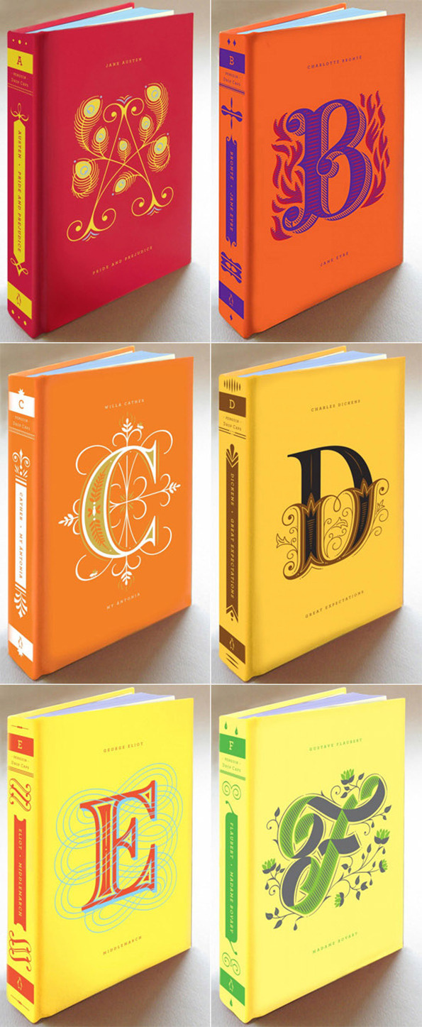 Jessica Hische/Penguin USA: Drop Caps #design #graphic #book #typography