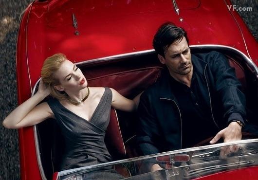 Mad Men: Annie Leibovitz | Icon_ology #hamm #woman #mad #jon #photography #men #fashion #man #car