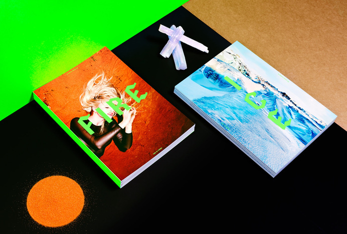 duo d uo | creative studio | She is Frank – Fire & Ice #emboss #design #publication #landscape #photography #fashion #fluro #green