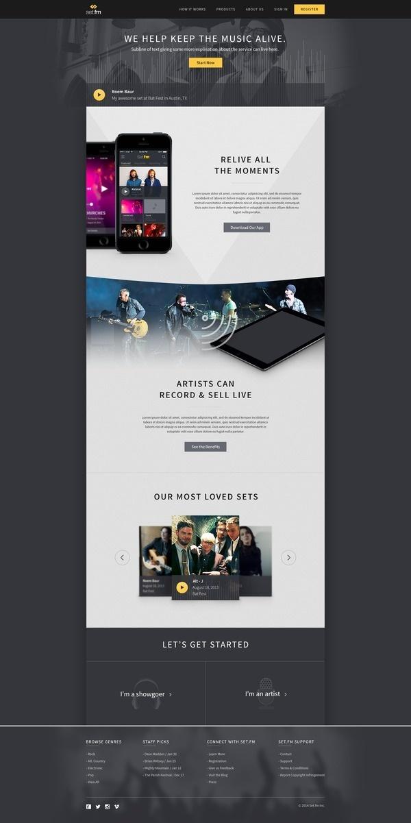 Setfm home #music #design #web