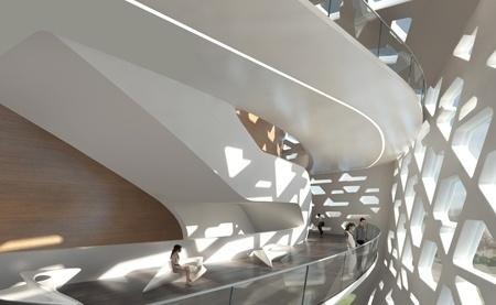 Beethoven Hall in Bonn / Zaha Hadid - eVolo   Architecture Magazine #interior #architecture