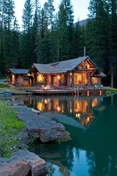 House on the lake #lake #house
