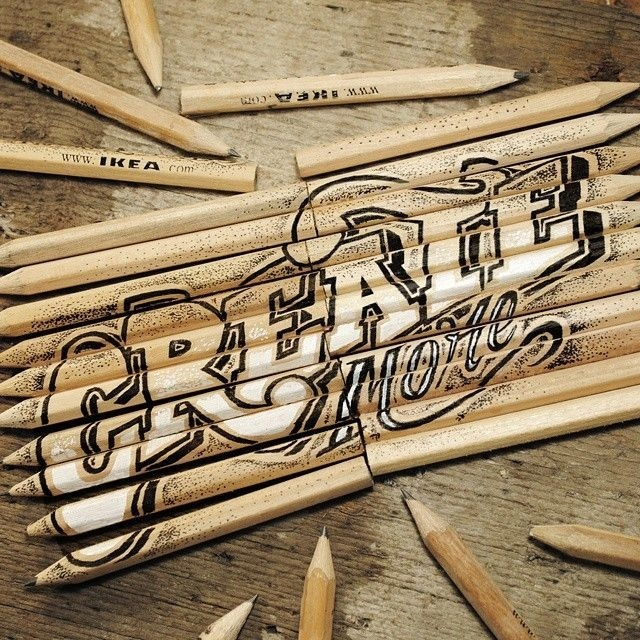 Lettering by Rob Draper Found on http://www.fromupnorth.com #type #found #ikea #objects