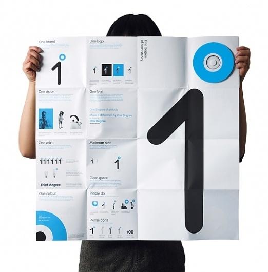 One Degree on the Behance Network #logotype #white #branding #identity #poster #blue #brochure #typography