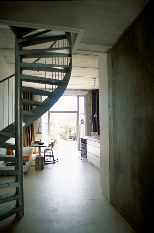 CJWHO ™ (a modern home in amsterdam) #concrete #modern #design #interiors #architecture #amsterdam #stairs