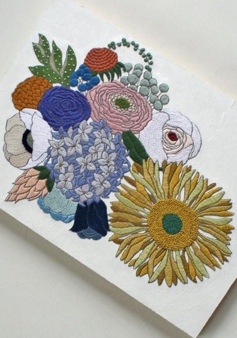 yumiko higuchi #embroidery #patterns #floral