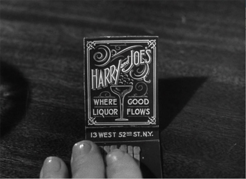www.robertsprint.co.uk: printblog - Film still taken from THE LOST WEEKEND. Directed... #type #matchbook #fancy #typography