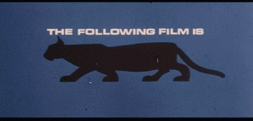 The Following Film Is Restricted #rating #restricted #panther #vintage #film