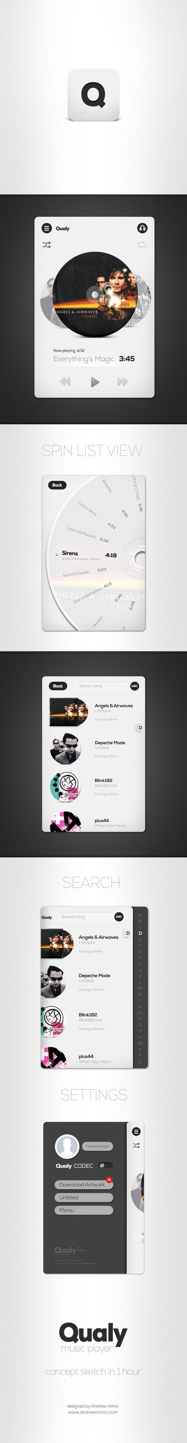 Qualy app. by Andrew Miron, via Behance #apple #ui