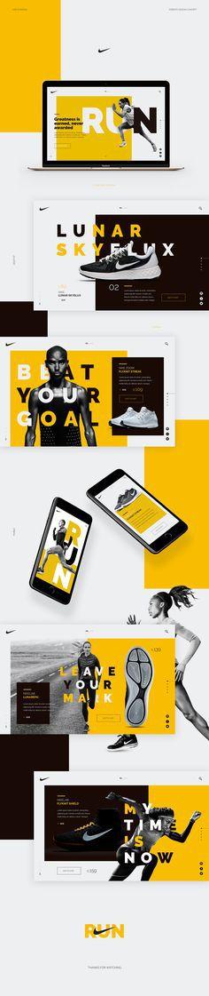 Nike Running web design concept