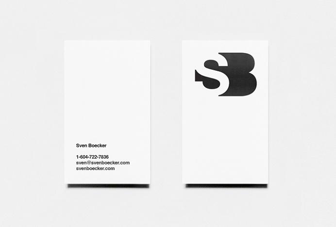 Sven Boecker by Sam Dallyn #logo #mark #symbol #business card