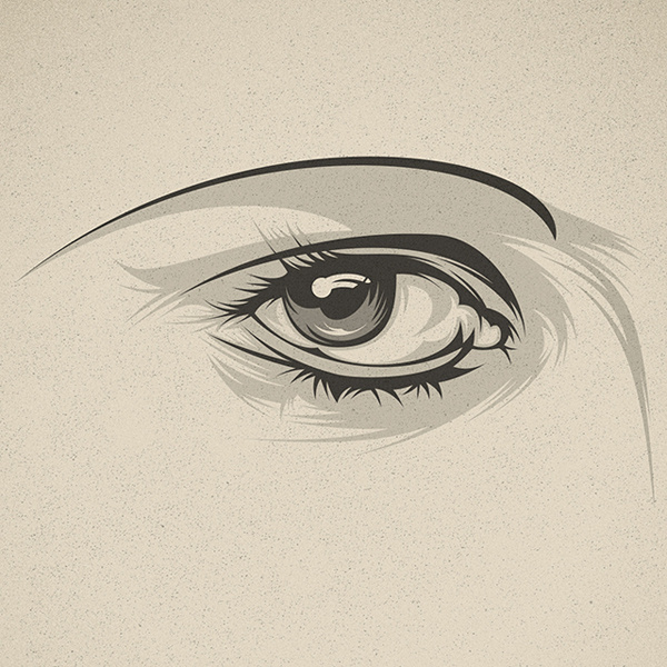 Look at me! on Behance #eye #illustration #close
