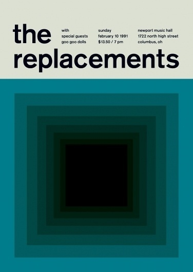 the replacements at newport hall, 1991 - swissted #graphics #swiss #swissted #poster