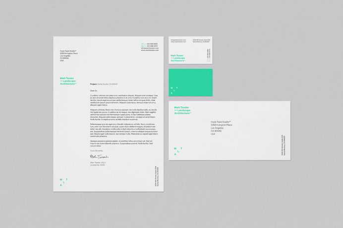 Hype Type Studio / Mark Tessier Landscape Architects #stationery