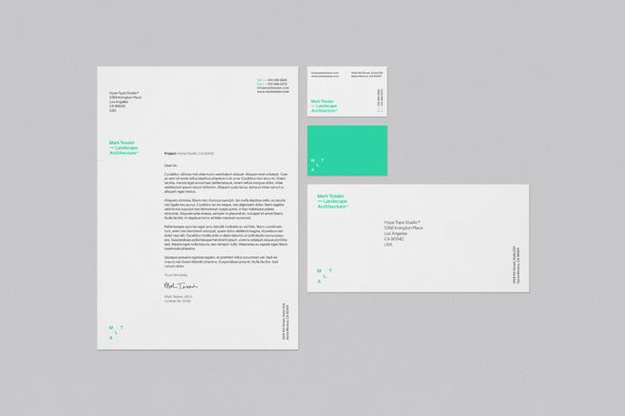 Hype Type Studio / Mark Tessier Landscape Architects #stationery