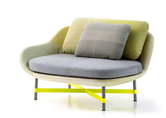 Minimalistic Ottoman Seat with Organic Form - furniture, furniture design, #design, modern furniture, #furniture