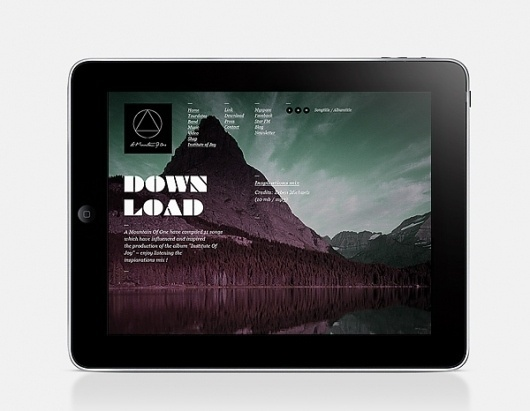 Website / A Mountain Of One on the Behance Network